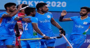 टोक्यो ओलंम्पिक में भारत ने पुरुष हॉकी में जापान को 5-3 से हराया